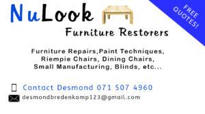 NuLook Furniture Restorers | Johannesburg | Gauteng | Pretoria | Roodepoort